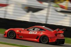 MUGELLO, ITALIE - NOVEMBRE 2013 : L'inconnu conduit Ferrari 599XX pendant XX les programmes de Finali Mondiali Ferrari - jour de  Photos libres de droits
