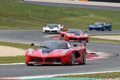 MUGELLO, ITALIE - 26 OCTOBRE 2017 : Ferrari FXX-K dans l'action pendant le Finali Mondiali Ferrrari 2017 - programmes XX au circu photo stock