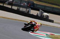 MUGELLO - ITALIEN, JULI 13: ItalienareDucati ryttare Valentino Rossi under TIM MotoGP GP 2012 av Italien på Juli 13, 2012 Fotografering för Bildbyråer