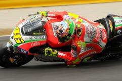 MUGELLO - ITALIEN, AM 13. JULI: Italiener Ducati-Reiter Valentino Rossi während TIM MotoGP GP 2012 von Italien am 13. Juli 2012 Stockfoto