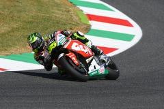 Mugello - ITALIEN, JUNI 3: Brittisk Honda LCR ryttare Cal Crutchlow på GP för 2017 OAKLEY av Italien av Mugello på JUNI 3, 2017 Royaltyfri Foto