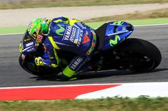 MUGELLO - ITALIEN, JUNI 3: ItalienareYamaha ryttare Valentino Rossi på MotoGP GP 2017 av Italien på Juni 2, 2017 Royaltyfri Fotografi