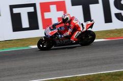 MUGELLO - ITALIEN, AM 3. JUNI: Italiener Ducati-Reiter Andrea Dovizioso Win der 2017 OAKLEY MotoGP GP von Italien am 3. Juni 2017 Lizenzfreies Stockbild