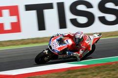 MUGELLO - ITALIEN, AM 3. JUNI: Italiener Ducati-Reiter Andrea Dovizioso Win der 2017 OAKLEY MotoGP GP von Italien am 3. Juni 2017 Lizenzfreies Stockfoto