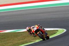 Mugello - ITALIEN, am 3. Juni: Reiter Daniel Pedrosa Spanisch-Hondas Repsol bei 2017 OAKLEY GP von Italien von Mugello lizenzfreies stockbild