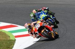 Mugello - ITALIEN, am 3. Juni: Reiter Daniel Pedrosa Spanisch-Hondas Repsol bei 2017 OAKLEY GP von Italien von Mugello stockfotos