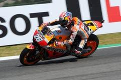 Mugello - ITALIEN, am 3. Juni: Reiter Daniel Pedrosa Spanisch-Hondas Repsol bei 2017 OAKLEY GP von Italien von Mugello stockbilder