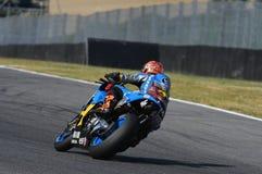 Mugello - ITALIEN, am 2. Juni: Reiter Tito Rabat Spanisch-Hondas Marc VDS während Oakley GP 2017 von Italien MotoGP an Mugello-St stockfotografie