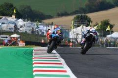 Mugello - ITALIEN, am 2. Juni: Reiter Tito Rabat Spanisch-Hondas Marc VDS während Oakley GP 2017 von Italien MotoGP an Mugello-St lizenzfreies stockbild