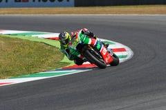Mugello - ITALIEN, am 3. Juni: ³ Spanisch Aprilia-Reiter Aleix Espargarà bei 2017 OAKLEY GP von Italien von MotoGP Mugello am 3.  lizenzfreie stockfotografie
