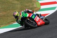 Mugello - ITALIEN, am 3. Juni: ³ Spanisch Aprilia-Reiter Aleix Espargarà bei 2017 OAKLEY GP von Italien von MotoGP Mugello am 3.  lizenzfreie stockbilder