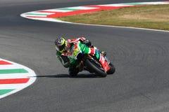Mugello - ITALIEN, am 3. Juni: ³ Spanisch Aprilia-Reiter Aleix Espargarà bei 2017 OAKLEY GP von Italien von MotoGP Mugello am 3.  stockbild