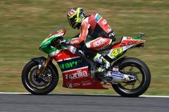 Mugello - ITALIEN, am 3. Juni: ³ Spanisch Aprilia-Reiter Aleix Espargarà bei 2017 OAKLEY GP von Italien von MotoGP Mugello am 3.  stockfotografie