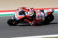 MUGELLO - ITALIEN, AM 3. JUNI: Spanisch Ducati-Reiter Jorge Lorenzo bei 2017 OAKLEY MotoGP GP von Italien stockbild