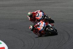 MUGELLO - ITALIEN, AM 3. JUNI: Spanisch Ducati-Reiter Jorge Lorenzo bei 2017 OAKLEY MotoGP GP von Italien bei Mugello umkreisen a stockfotos
