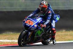 MUGELLO - ITALIEN, AM 3. JUNI: Spanisch-Yamaha-Reiter Maverick Vinales während des Qualifizierens des MotoGP OAKLEY GP 2017 von I lizenzfreies stockbild
