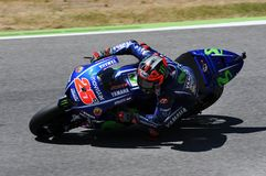 MUGELLO - ITALIEN, AM 3. JUNI: Spanisch-Yamaha-Reiter Maverick Vinales während des Qualifizierens des MotoGP OAKLEY GP 2017 von I lizenzfreie stockbilder