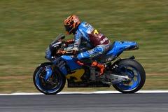 Mugello - ITALIEN, Juni 2: Spansk Honda Marc VDS ryttare Tito Rabat under Oakley GP 2017 av Italien MotoGP på den Mugello strömkr Royaltyfri Bild