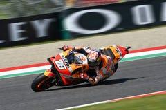 MUGELLO - ITALIEN, AM 2. JUNI: Teamreiter Daniel Pedrosa Spanisch-Hondas Repsol bei GP 2018 von Italien von MotoGP im Juni 2018 Lizenzfreies Stockfoto