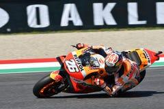 MUGELLO - ITALIEN, AM 2. JUNI: Teamreiter Daniel Pedrosa Spanisch-Hondas Repsol während der qualifizierenden Sitzung bei GP 2018  stockfoto