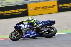 MUGELLO - ITALIEN, JUNI: Teamreiter Valentino Rossi Italiener-Yamahas Movistar bei GP 2018 von Italien von MotoGP im Juni 2018 Stockfotos