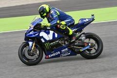 MUGELLO - ITALIEN, JUNI: Teamreiter Valentino Rossi Italiener-Yamahas Movistar bei GP 2018 von Italien von MotoGP im Juni 2018 Lizenzfreie Stockfotos