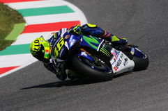 MUGELLO - ITALIEN, AM 21. MAI: Italiener-Yamaha-Reiter Valentino Rossi bei TIM 2016 MotoGP von Italien Lizenzfreies Stockbild