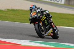MUGELLO - ITALIEN, AM 21. MAI: Reiter Bradley Smith Briten Yamaha bei TIM 2016 MotoGP von ITALIEN an Mugello-Stromkreis Lizenzfreie Stockbilder