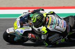 MUGELLO - ITALIEN, AM 21. MAI: Reiter Cal Crutchlow Briten HONDA bei TIM 2016 MotoGP von Italien an Mugello-Stromkreis Stockfotografie