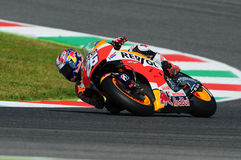 MUGELLO - ITALIEN, AM 29. MAI: Spanisch-Honda-Reiter Dani Pedrosa bei TIM 2015 MotoGP von Italien an Mugello-Stromkreis Lizenzfreie Stockfotografie