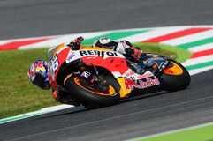 MUGELLO - ITALIEN, AM 29. MAI: Spanisch-Honda-Reiter Dani Pedrosa bei TIM 2015 MotoGP von Italien an Mugello-Stromkreis Lizenzfreie Stockfotos