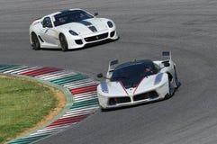 MUGELLO ITALIEN - MAJ 2017: Okändadrev Ferrari 599XX under XX program av Ferrari tävlings- dagar i den Mugello strömkretsen Royaltyfri Bild