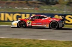 MUGELLO ITALIEN - NOVEMBER, 2015: Ferrari 458 utmaning EVO Arkivfoto