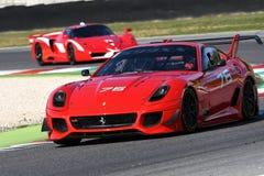 MUGELLO ITALIEN - OKTOBER 2017: Okändadrev Ferrari 599XX under XX program av Finali Mondiali Ferrari på den Mugello strömkretsen Royaltyfria Foton