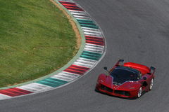 MUGELLO, ITALY - April 12, 2017: Unknown drives Ferrari FXX K during XX Programmes of Ferrari Racing Days in Mugello Circuit Royalty Free Stock Images