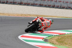 MUGELLO - ITALY, JULY 13: US Ducati rider Nicky Hayden at 2012 TIM MotoGP of Italy at Mugello circuit on July 13, 2012 Royalty Free Stock Photo