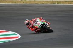 MUGELLO - ITALY, JULY 13: US Ducati rider Nicky Hayden at 2012 TIM MotoGP of Italy at Mugello circuit on July 13, 2012 Royalty Free Stock Image