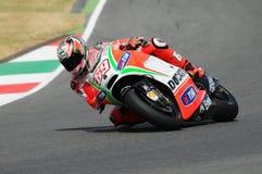 MUGELLO - ITALY, JULY 13: US Ducati rider Nicky Hayden at 2012 TIM MotoGP of Italy at Mugello circuit on July 13, 2012 Stock Photo