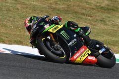 MUGELLO - ITALY, JUNE 3: France Yamaha Tech 3 Rider Johann Zarco at 2017 Oakley MotoGP GP of Italy on JUNE 3, 2017 Royalty Free Stock Image