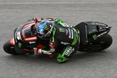 MUGELLO - ITALY, 2 JUNE: French Yamaha Tech 3 Team Rider Johann Zarco during Qualifying session at 2018 GP of Italy of MotoGP. On June, 2018. Italy Royalty Free Stock Photography