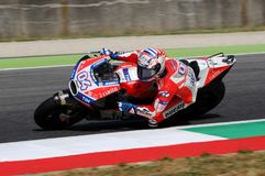 MUGELLO - ITALY, JUNE 3: Italian Ducati rider Andrea Dovizioso Win the 2017 OAKLEY MotoGP GP of Italy on JUNE 3, 2017. Stock Photos