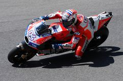 MUGELLO - ITALY, JUNE 3: Italian Ducati rider Andrea Dovizioso Win the 2017 OAKLEY MotoGP GP of Italy on JUNE 3, 2017. Stock Photo
