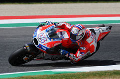 MUGELLO - ITALY, JUNE 3: Italian Ducati rider Andrea Dovizioso Win the 2017 OAKLEY MotoGP GP of Italy on JUNE 3, 2017. Italy Stock Images