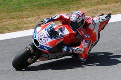 MUGELLO - ITALY, JUNE 3: Italian Ducati rider Andrea Dovizioso Win the 2017 OAKLEY MotoGP GP of Italy on JUNE 3, 2017. Italy Stock Photo