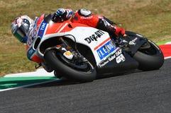 MUGELLO - ITALY, JUNE 3: Italian Ducati rider Andrea Dovizioso Win the 2017 OAKLEY MotoGP GP of Italy on JUNE 3, 2017. Italy Royalty Free Stock Image