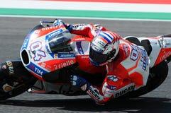 MUGELLO - ITALY, JUNE 3: Italian Ducati rider Andrea Dovizioso Win the 2017 OAKLEY MotoGP GP of Italy on JUNE 3, 2017 Stock Photos
