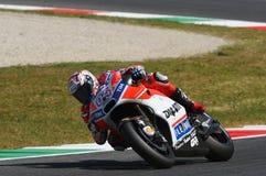 MUGELLO - ITALY, JUNE 3: Italian Ducati rider Andrea Dovizioso Win the 2017 OAKLEY MotoGP GP of Italy on JUNE 3, 2017. Italy Royalty Free Stock Photography