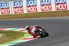 MUGELLO - ITALY, JUNE 3: Italian Ducati rider Andrea Dovizioso Win the 2017 OAKLEY MotoGP GP of Italy on JUNE 3, 2017 Stock Photography