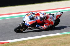 MUGELLO - ITALY, JUNE 3: Italian Ducati rider Andrea Dovizioso Win the 2017 OAKLEY MotoGP GP of Italy on JUNE 3, 2017. Royalty Free Stock Photos