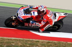 MUGELLO - ITALY, JUNE 3: Italian Ducati rider Andrea Dovizioso Win the 2017 OAKLEY MotoGP GP of Italy on JUNE 3, 2017. Stock Image
